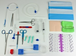 Rocket IPC Pleural & Peritoneal Catheter Insertion Set with plastic tunneller